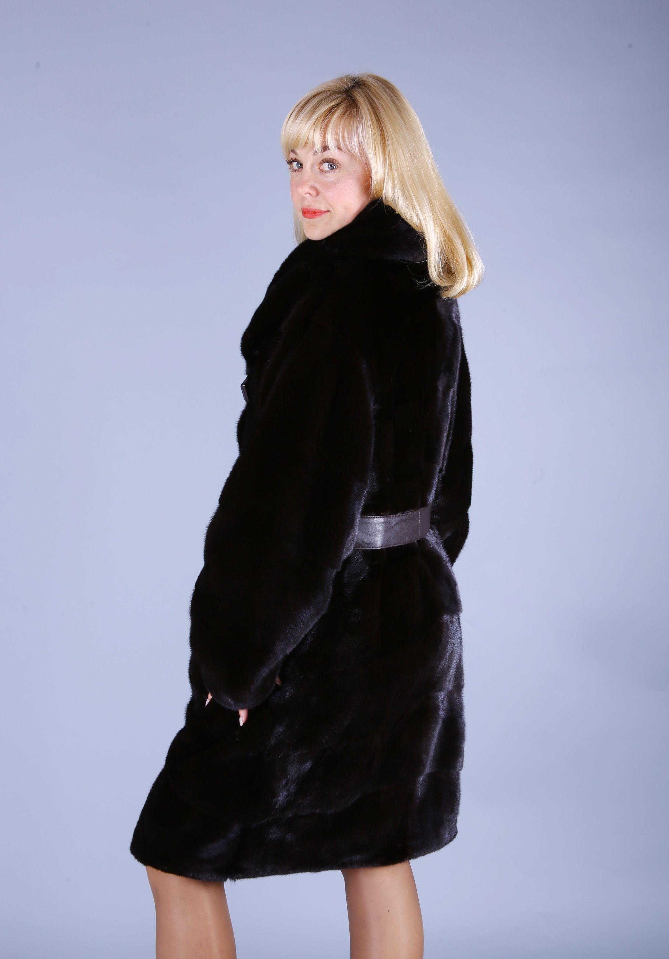 Шуба женская норковая 7402 фото №1
