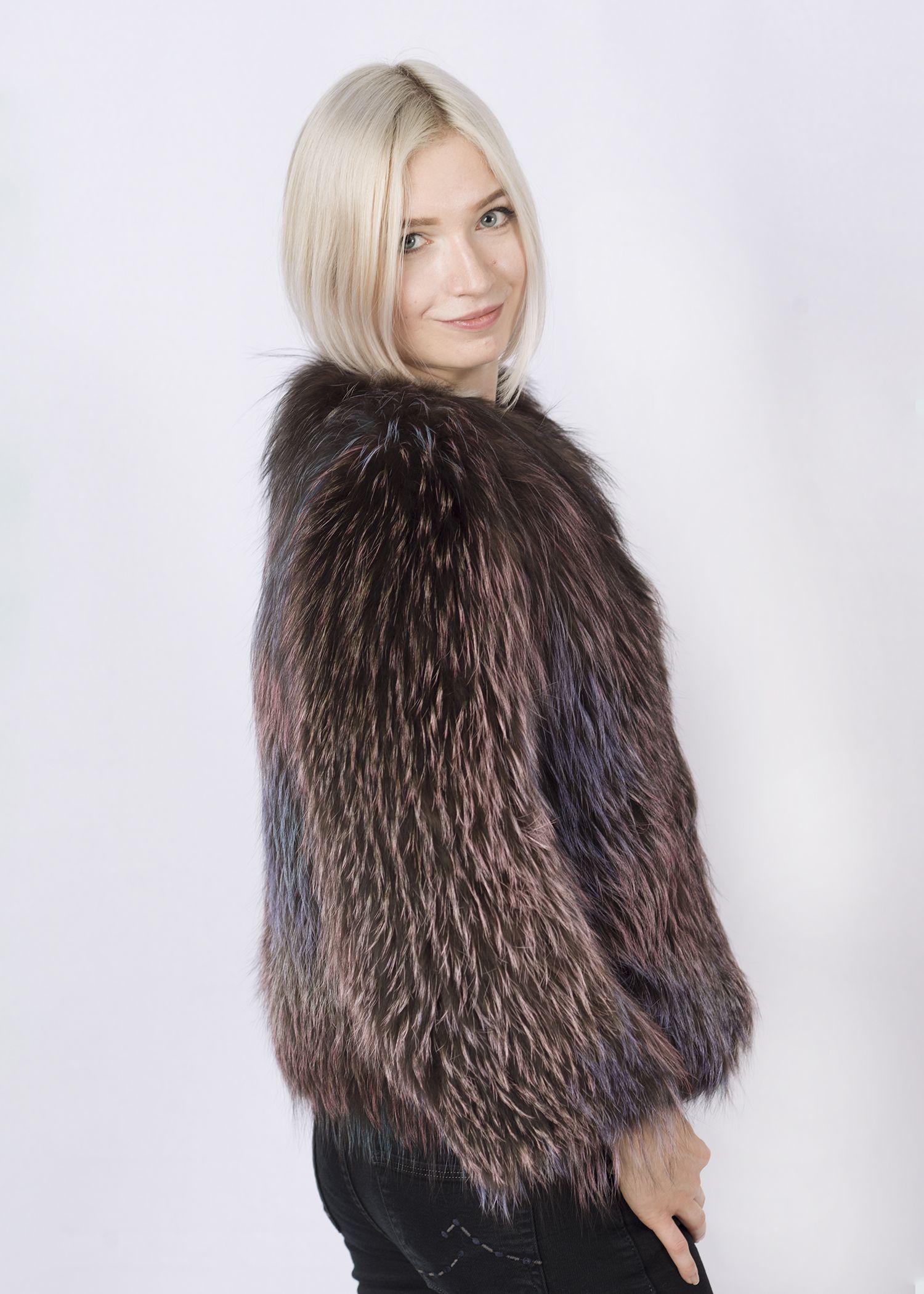 Кофта женская из меха лисы FOX-006 фото №1