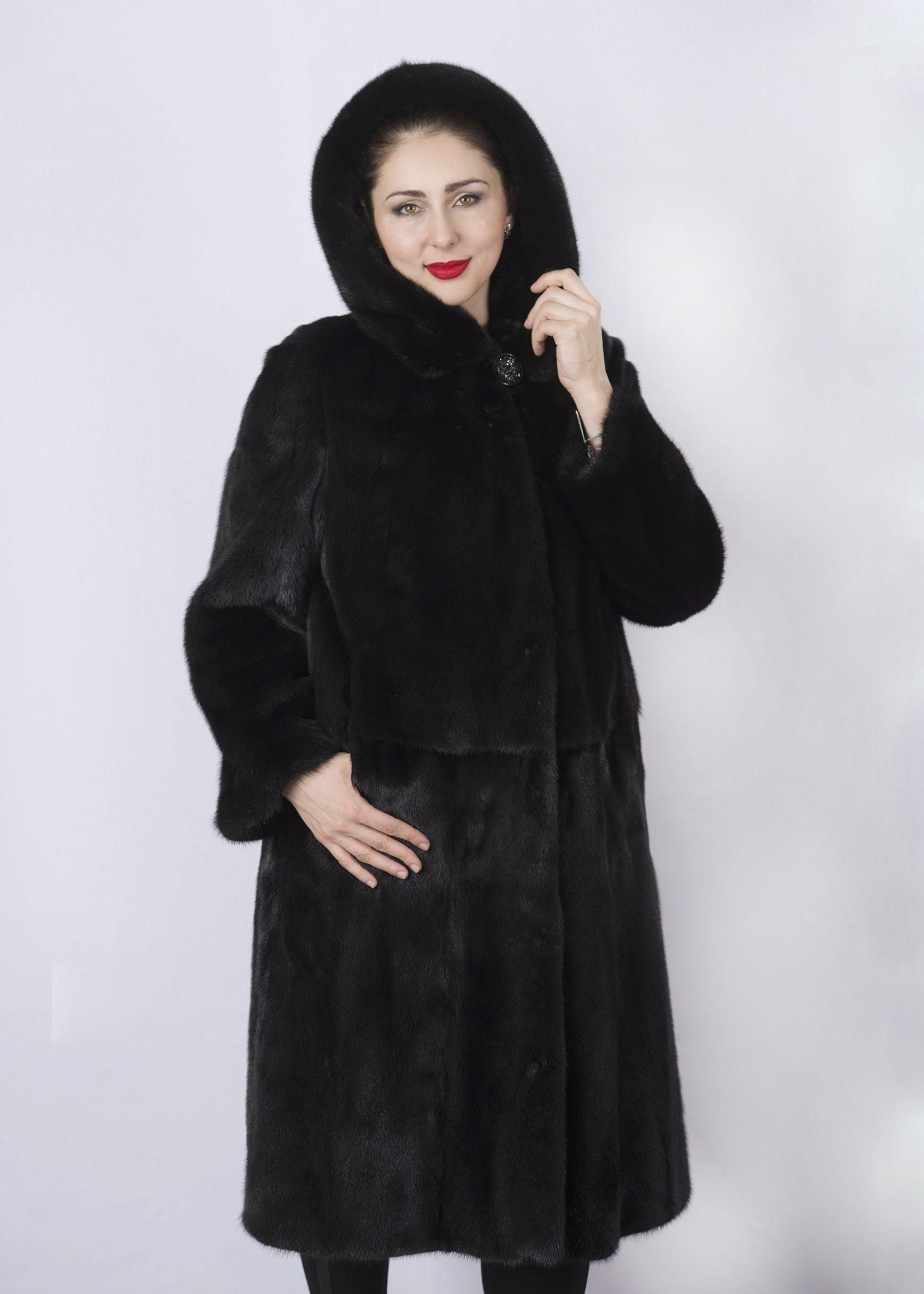 Шуба женская норковая 2690A фото №1