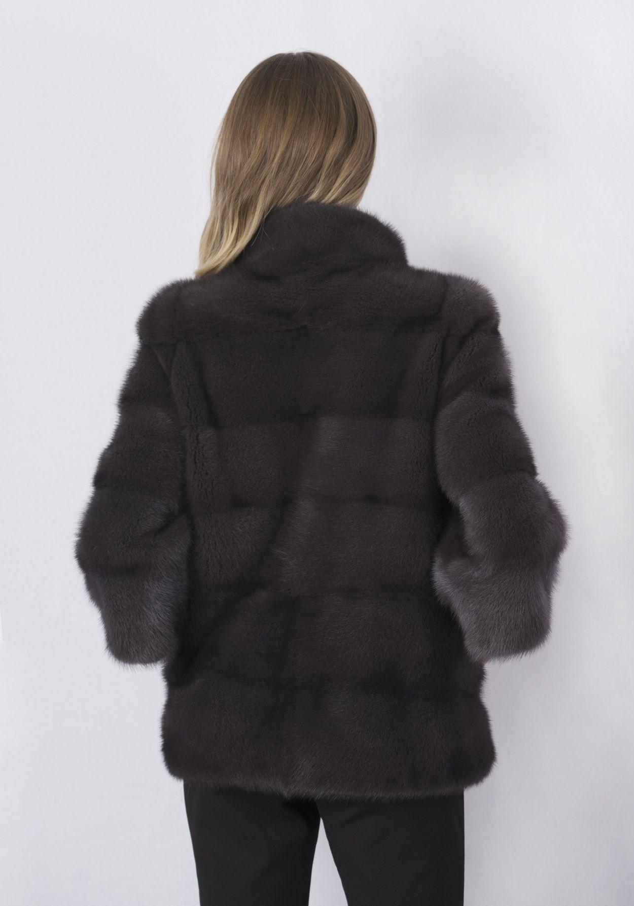 Шуба женская норковая 15943 фото №1
