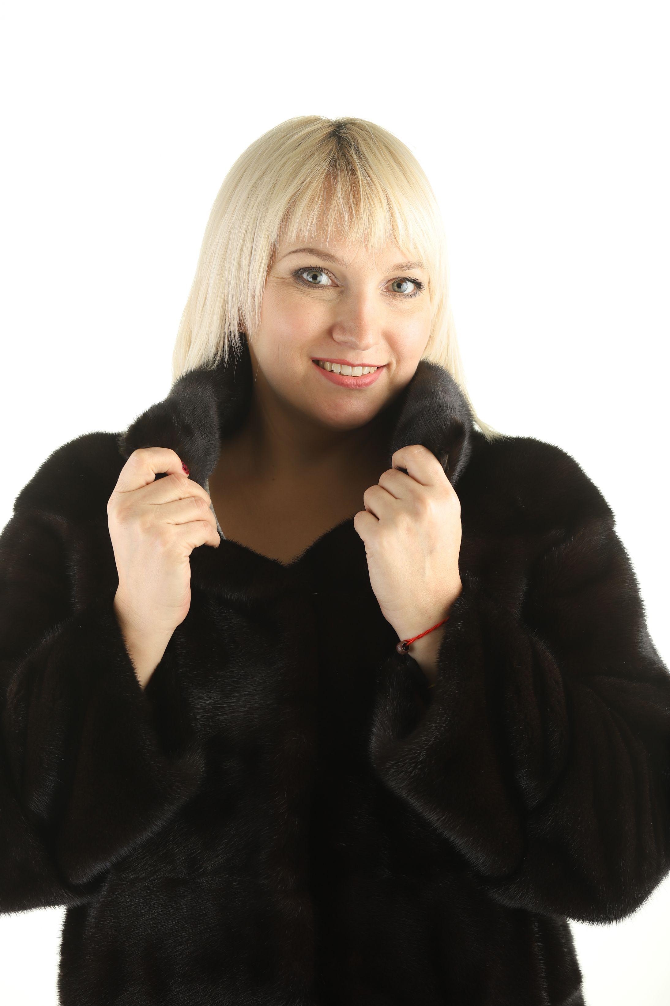 Шуба женская норковая 12205 фото №1