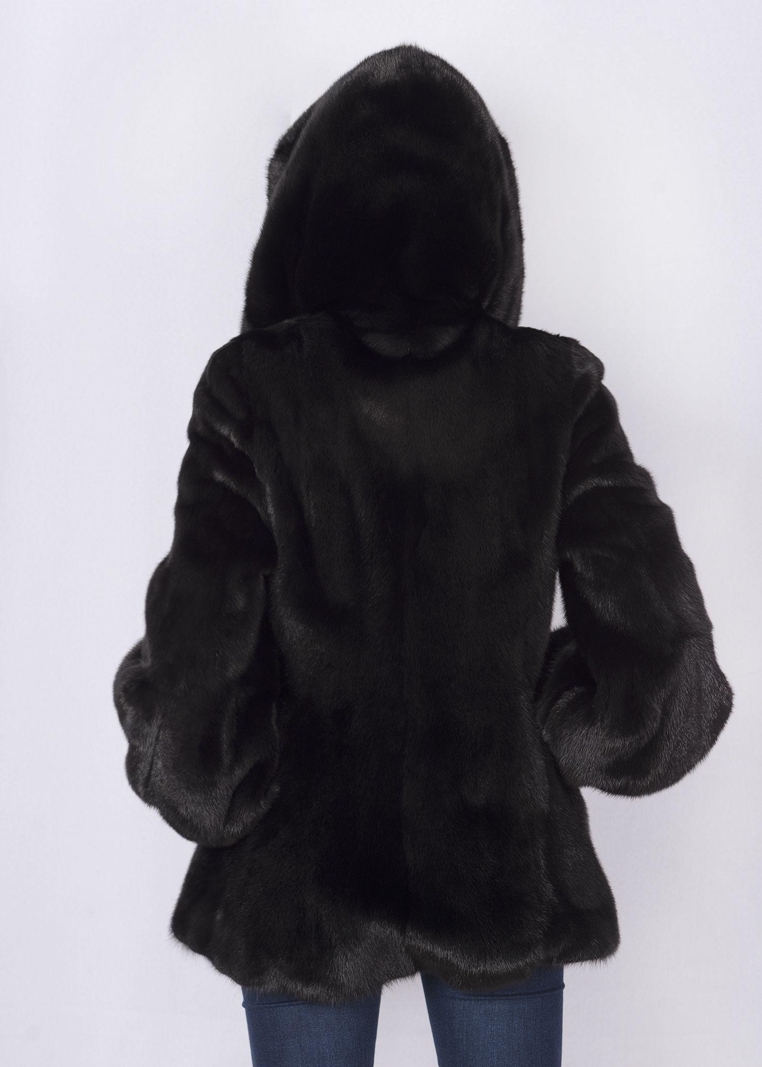 Шуба женская норковая 90743 фото №1