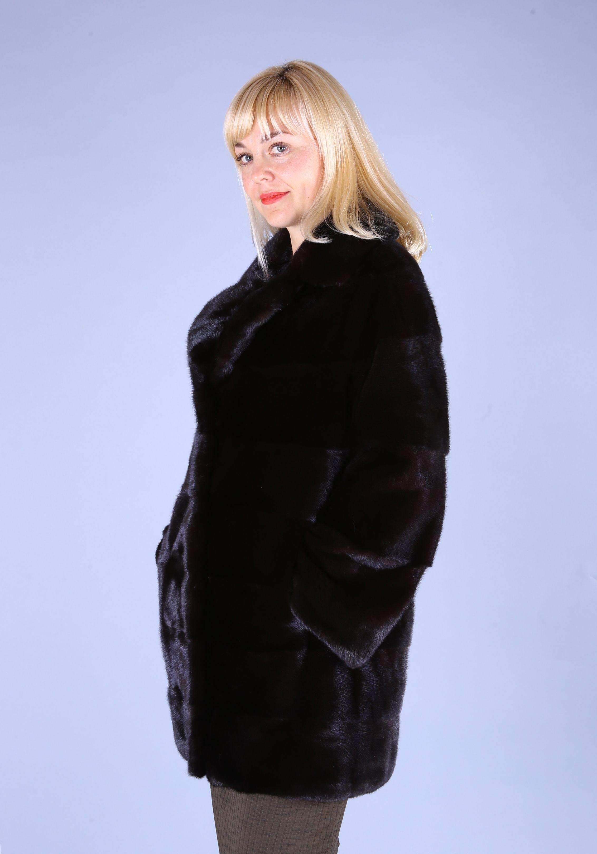 Шуба женская норковая 7520 фото №1