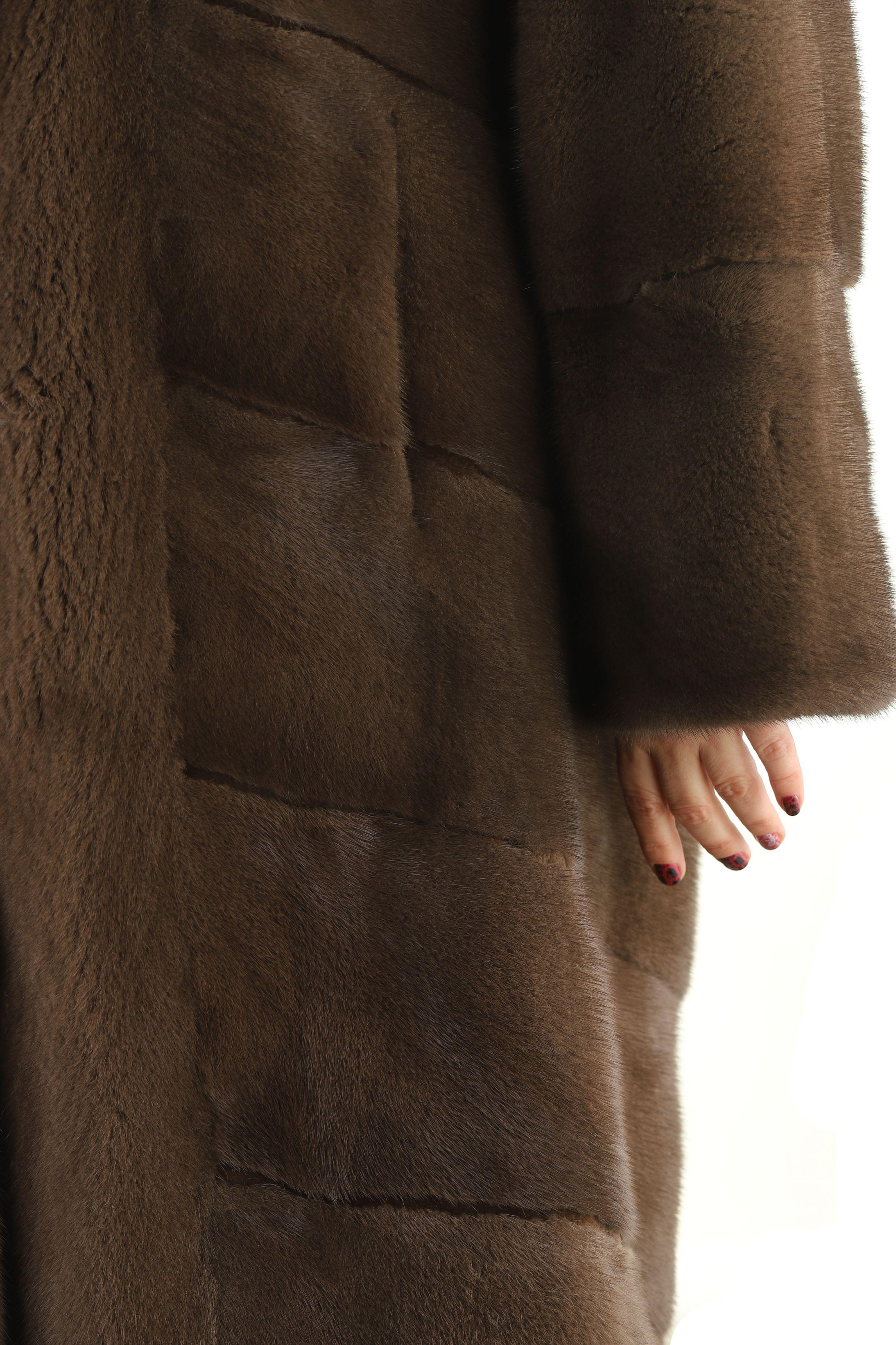 Шуба женская норковая 23761 фото №1