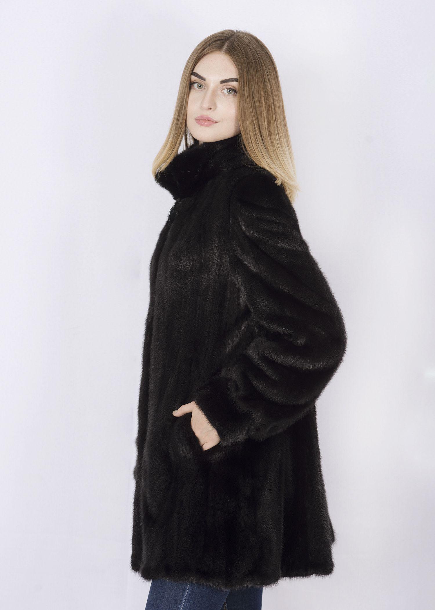 Шуба женская норковая 35-844 фото №1
