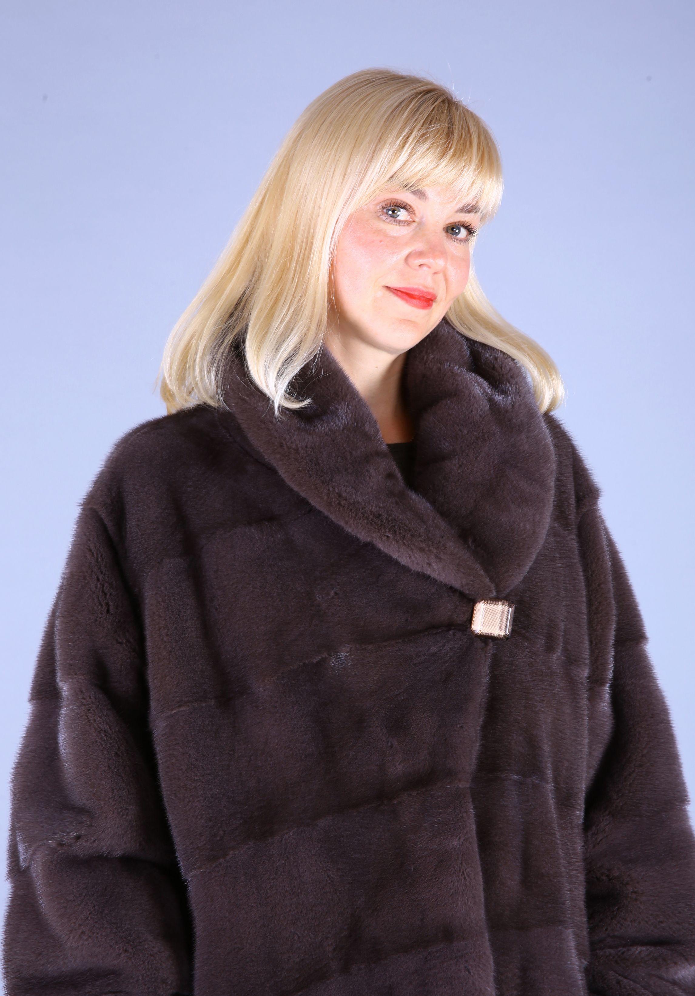 Шуба женская норковая 7517 фото №1