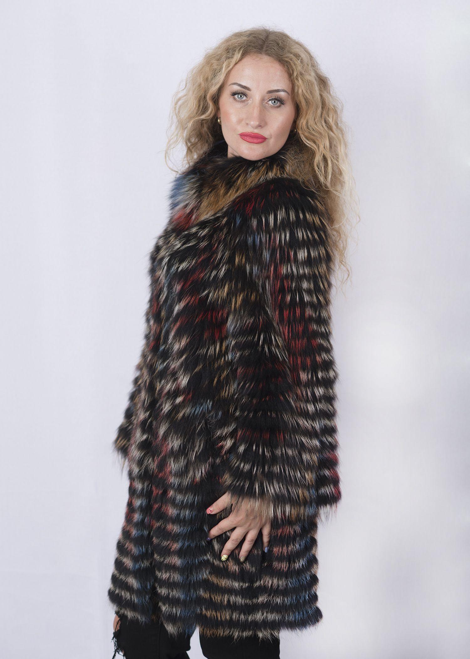 Кофта женская из меха лисы Z-13YL фото №1