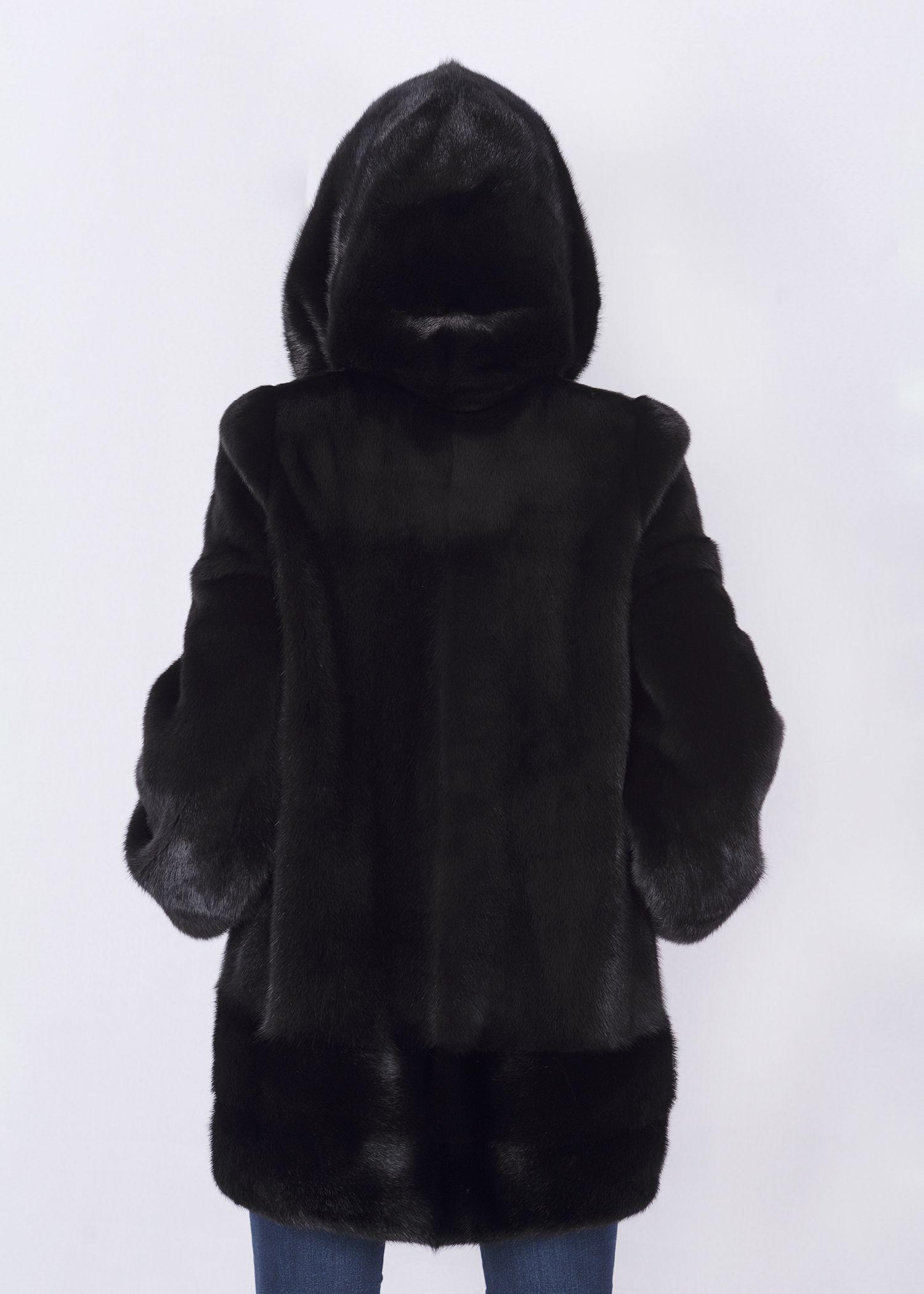 Шуба женская норковая 12210 фото №1