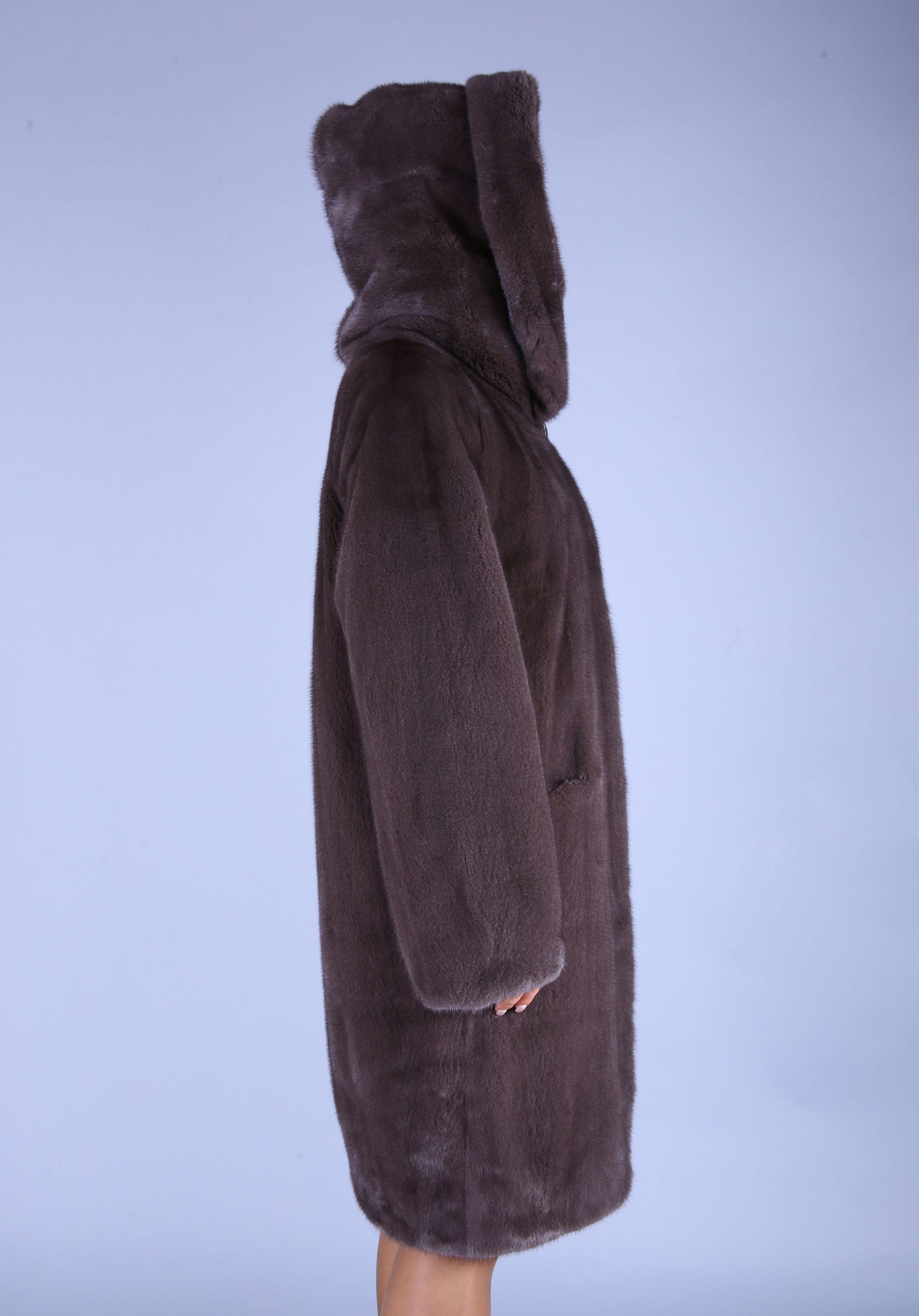 Шуба женская норковая 7483 фото №1