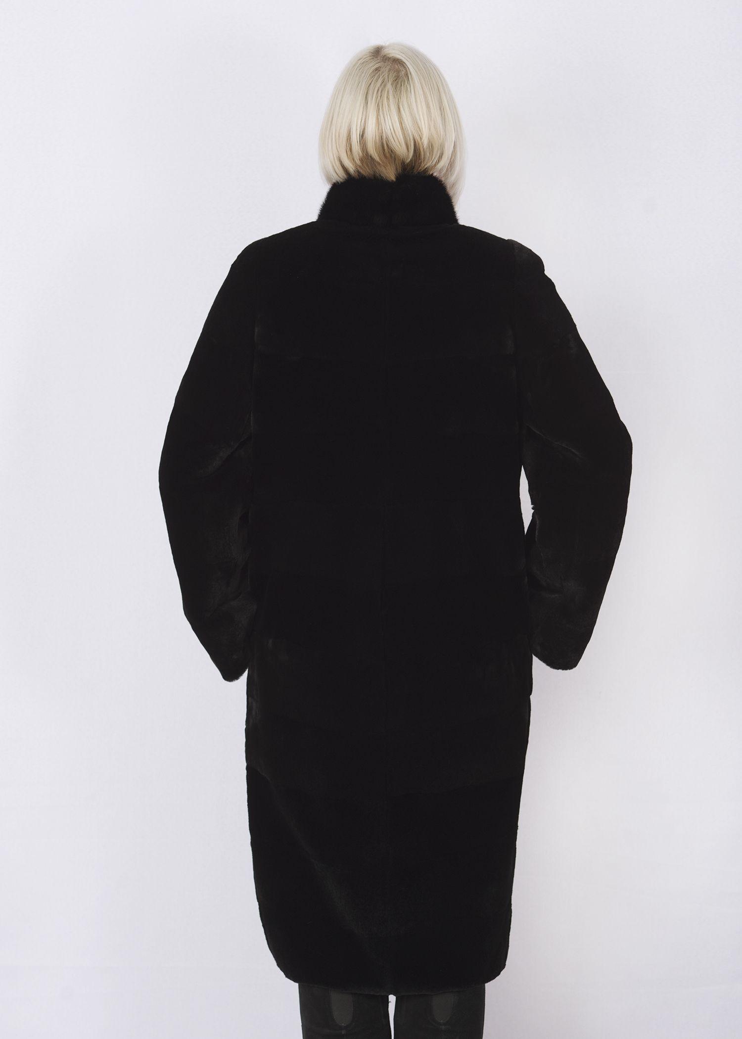 Шуба женская из бобрика(rex) WT190-14 фото №1