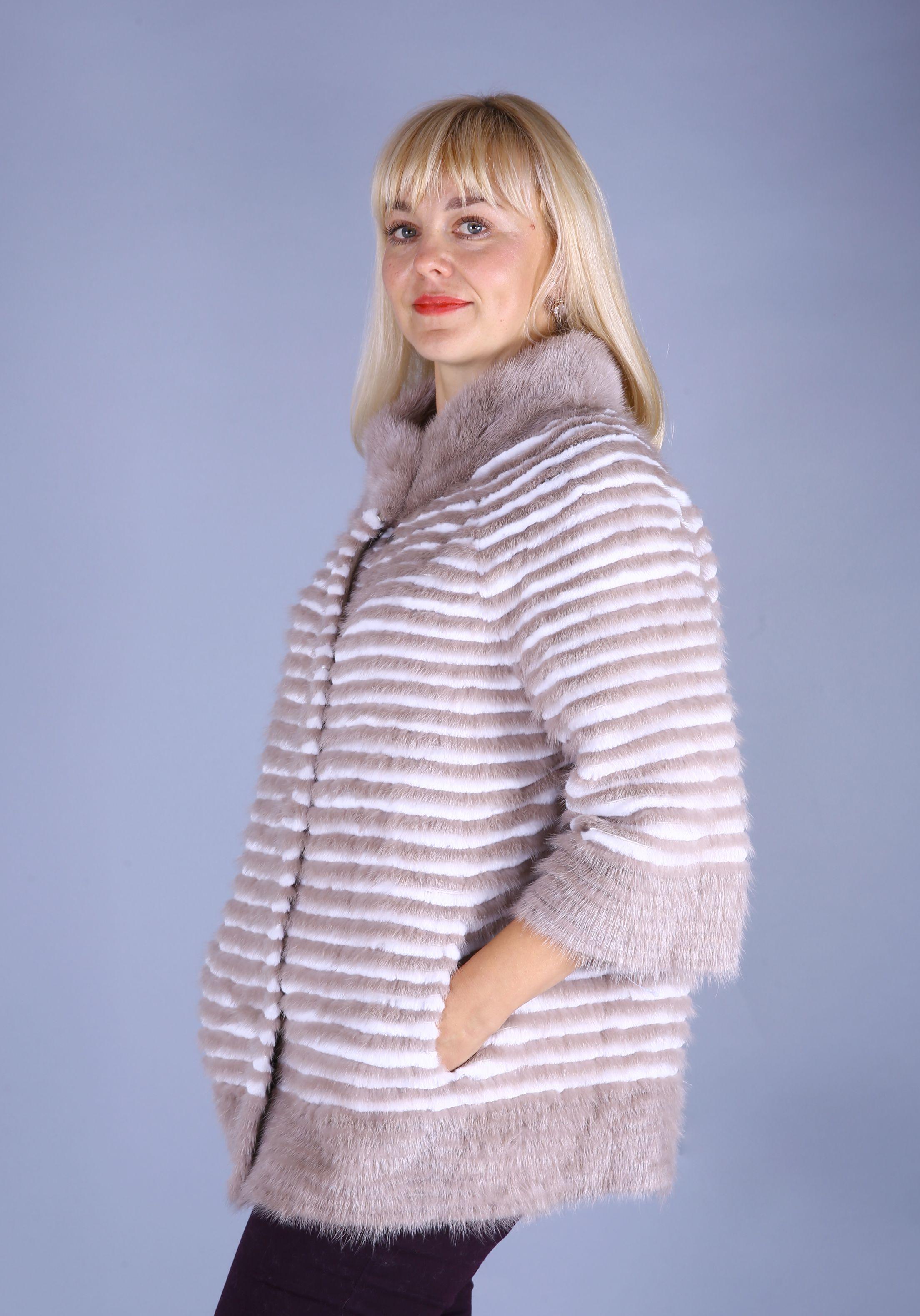 Кофта женская из меха норки w219D фото №1