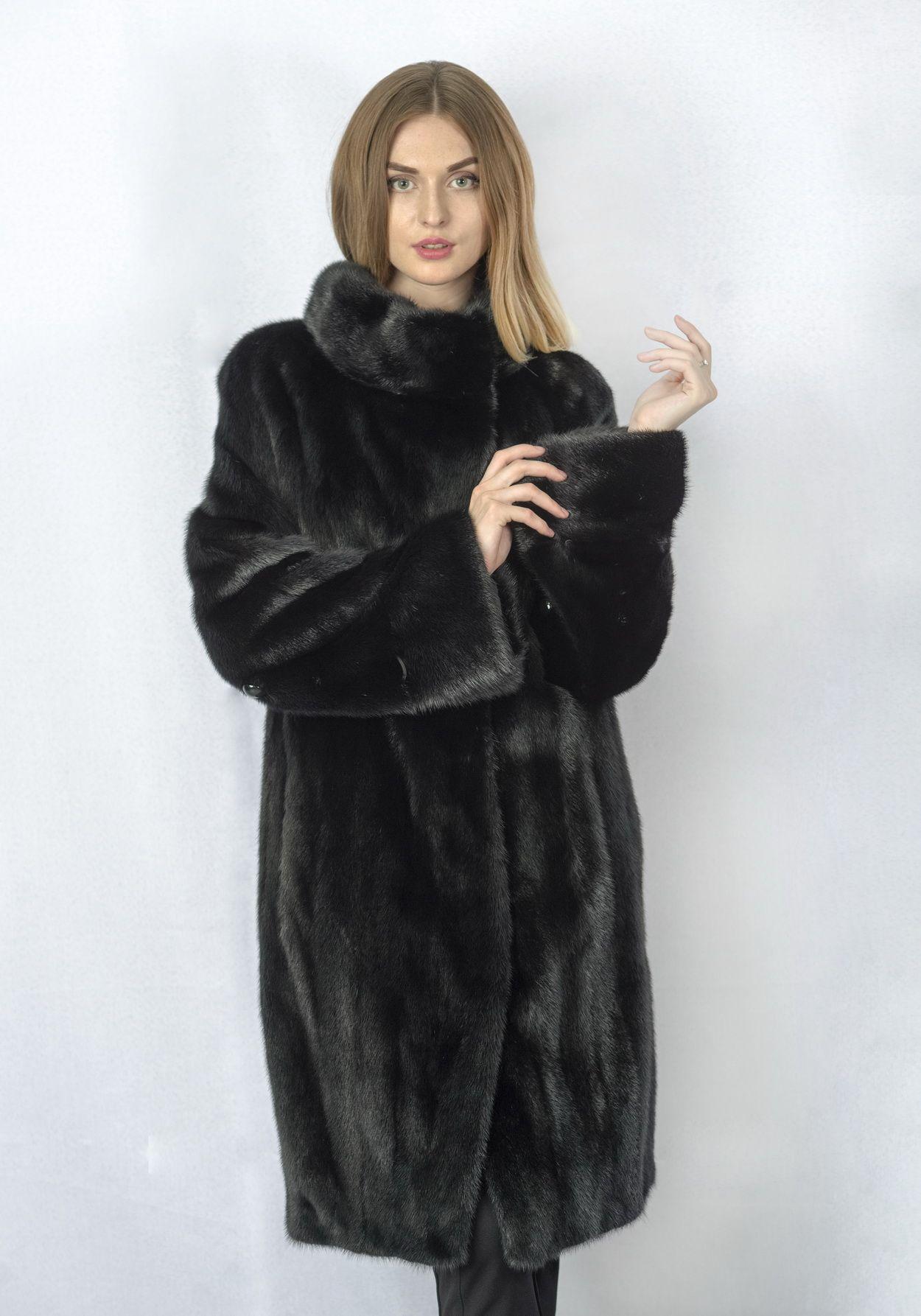 Шуба женская норковая 257 фото №1