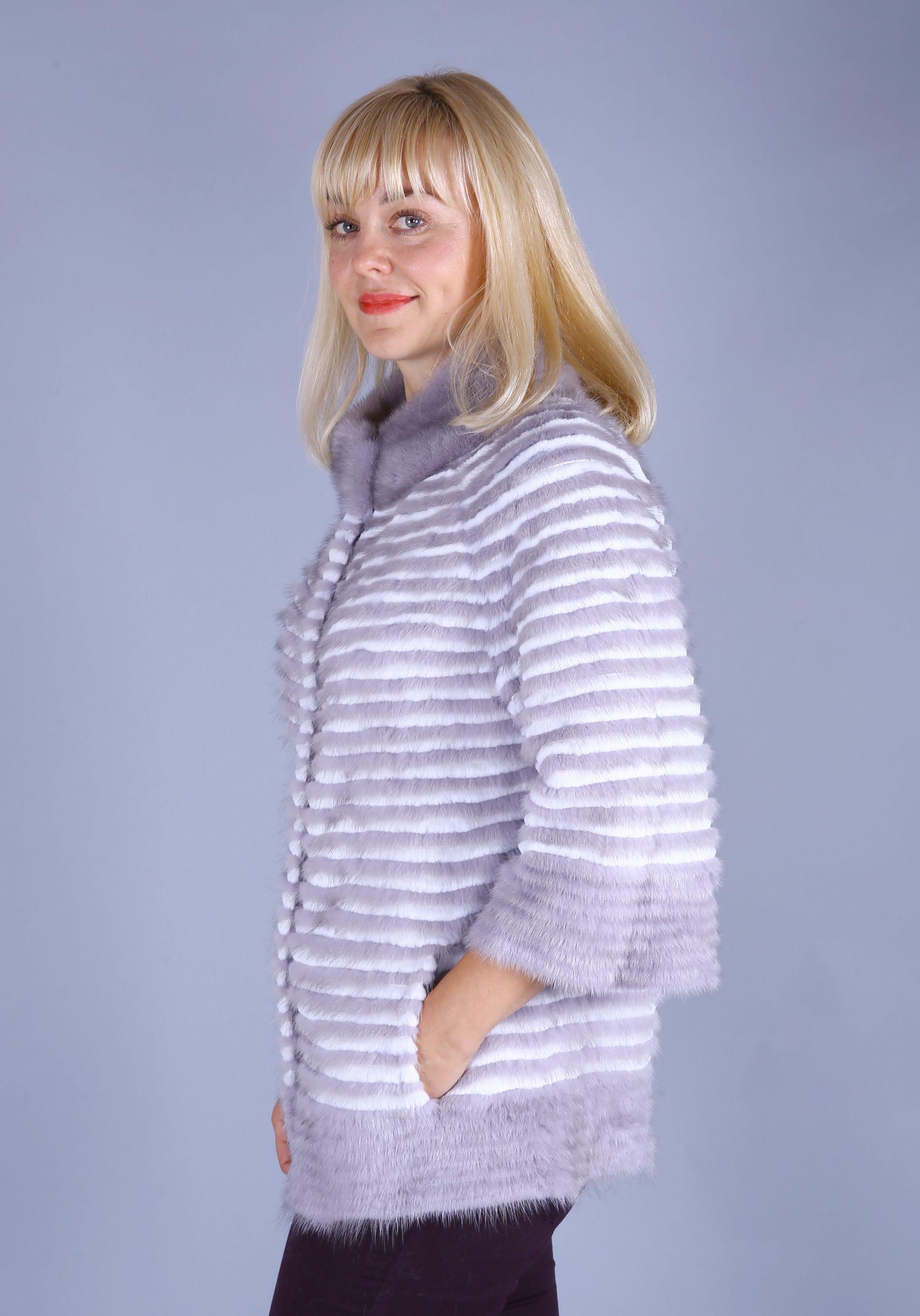 Кофта женская из меха норки w219 фото №1