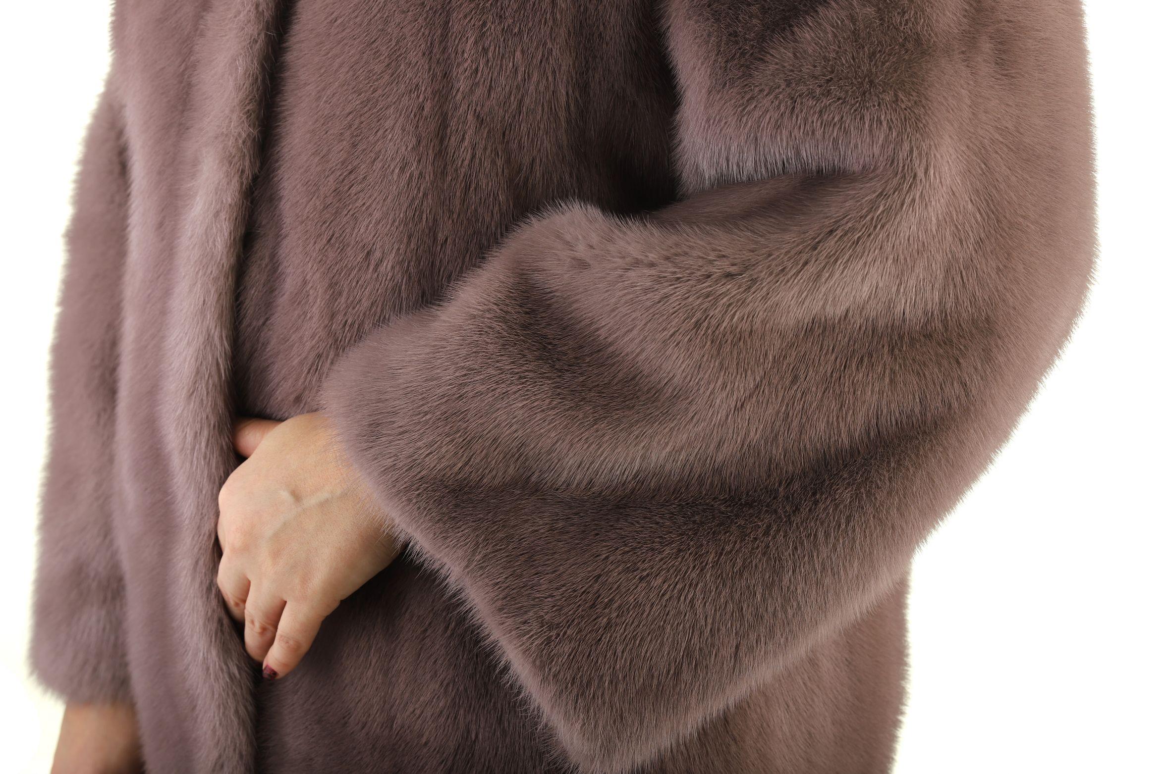Шуба женская норковая T18-019 фото №1