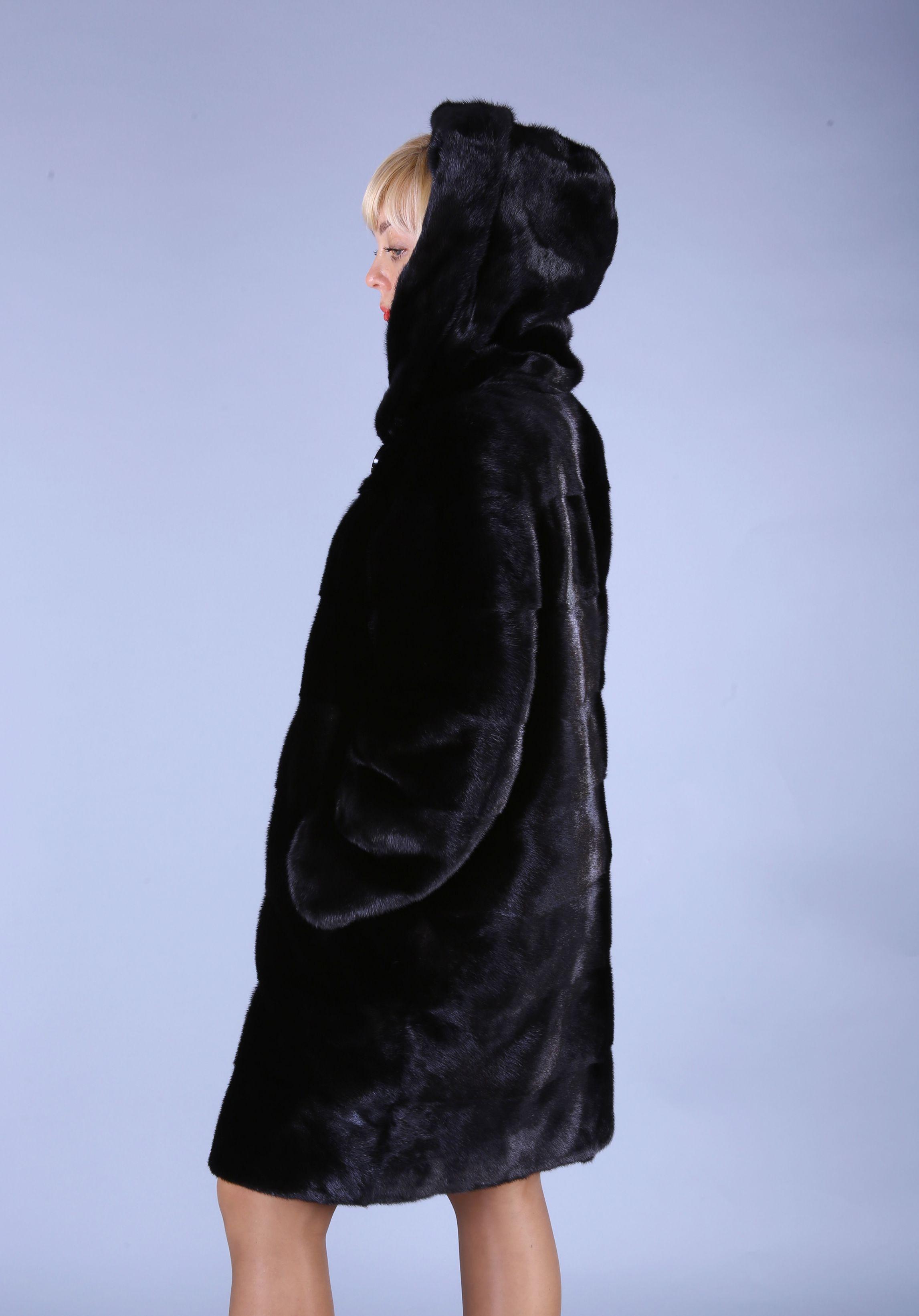 Шуба женская норковая 7574 фото №1