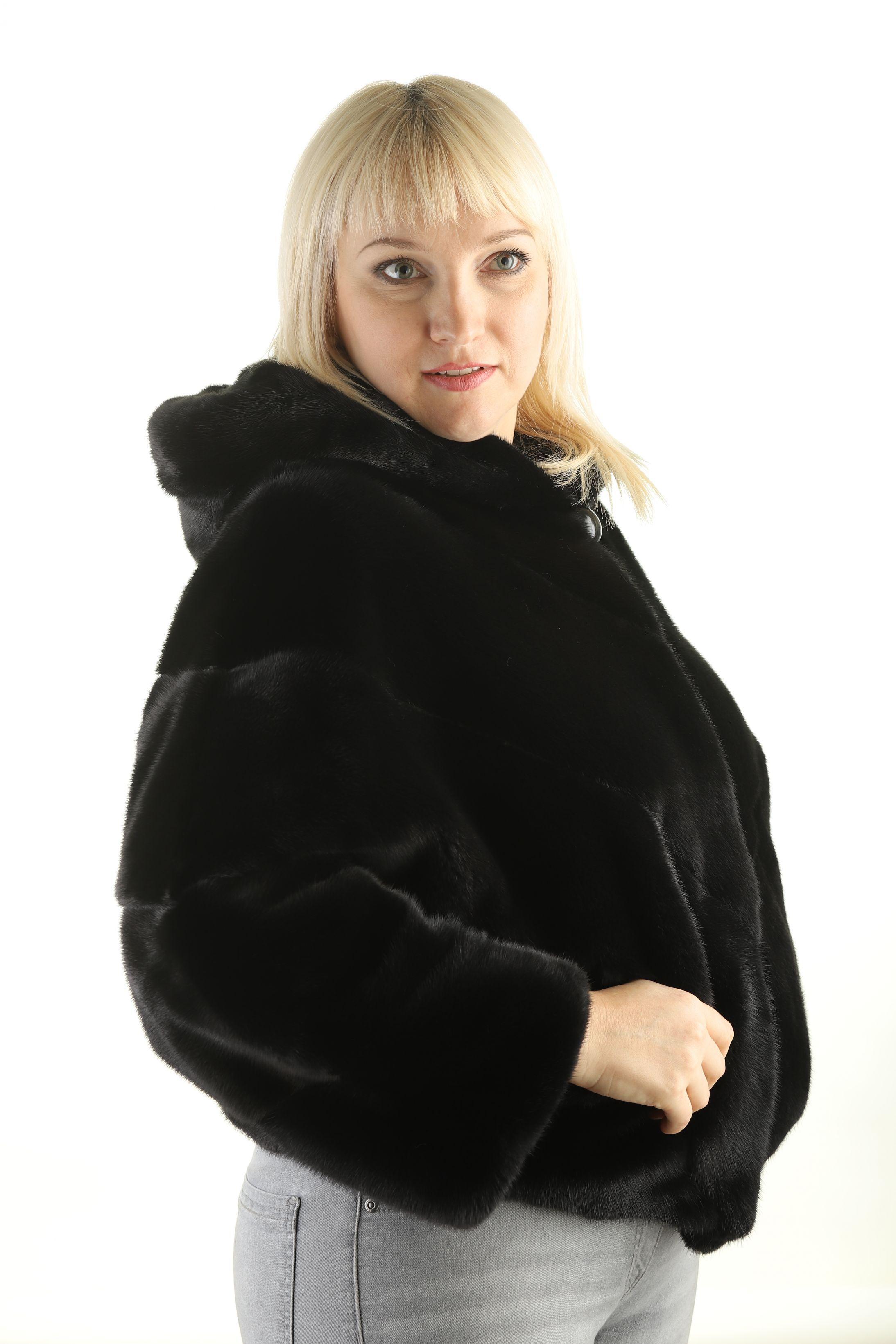 Шуба женская норковая 12195 фото №1