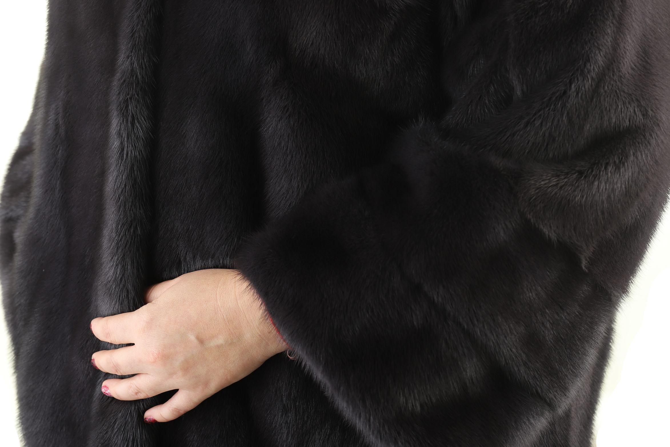 Шуба женская норковая 710 фото №1