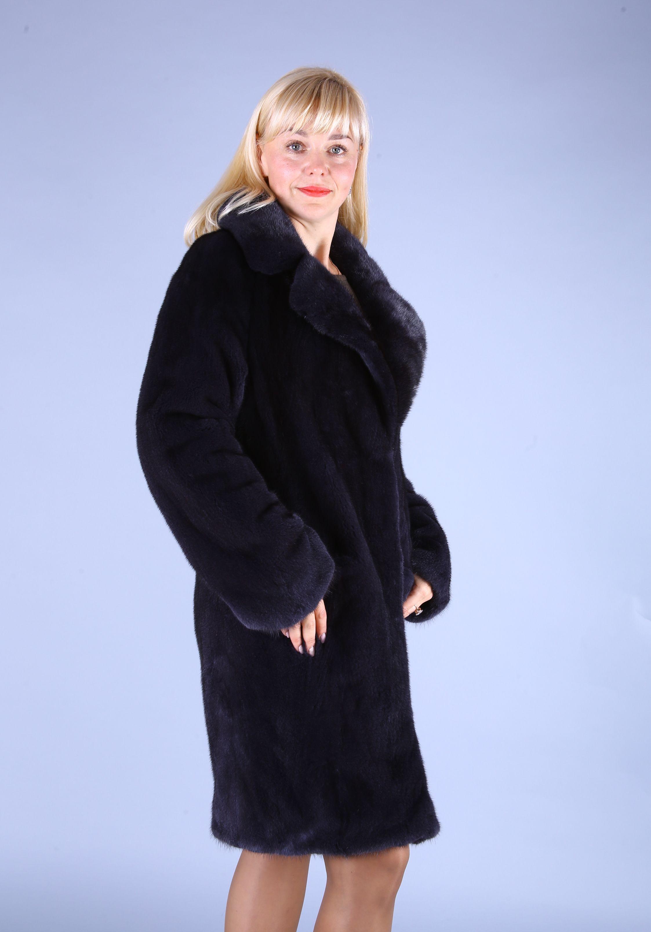 Шуба женская норковая 7501 фото №1