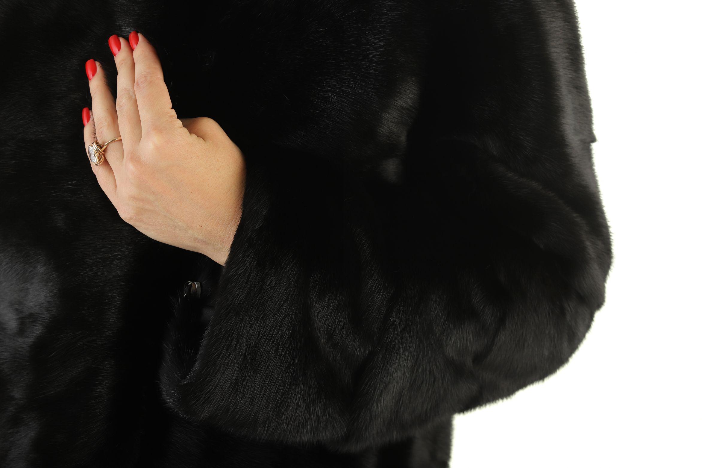 Шуба женская норковая 12223 фото №1