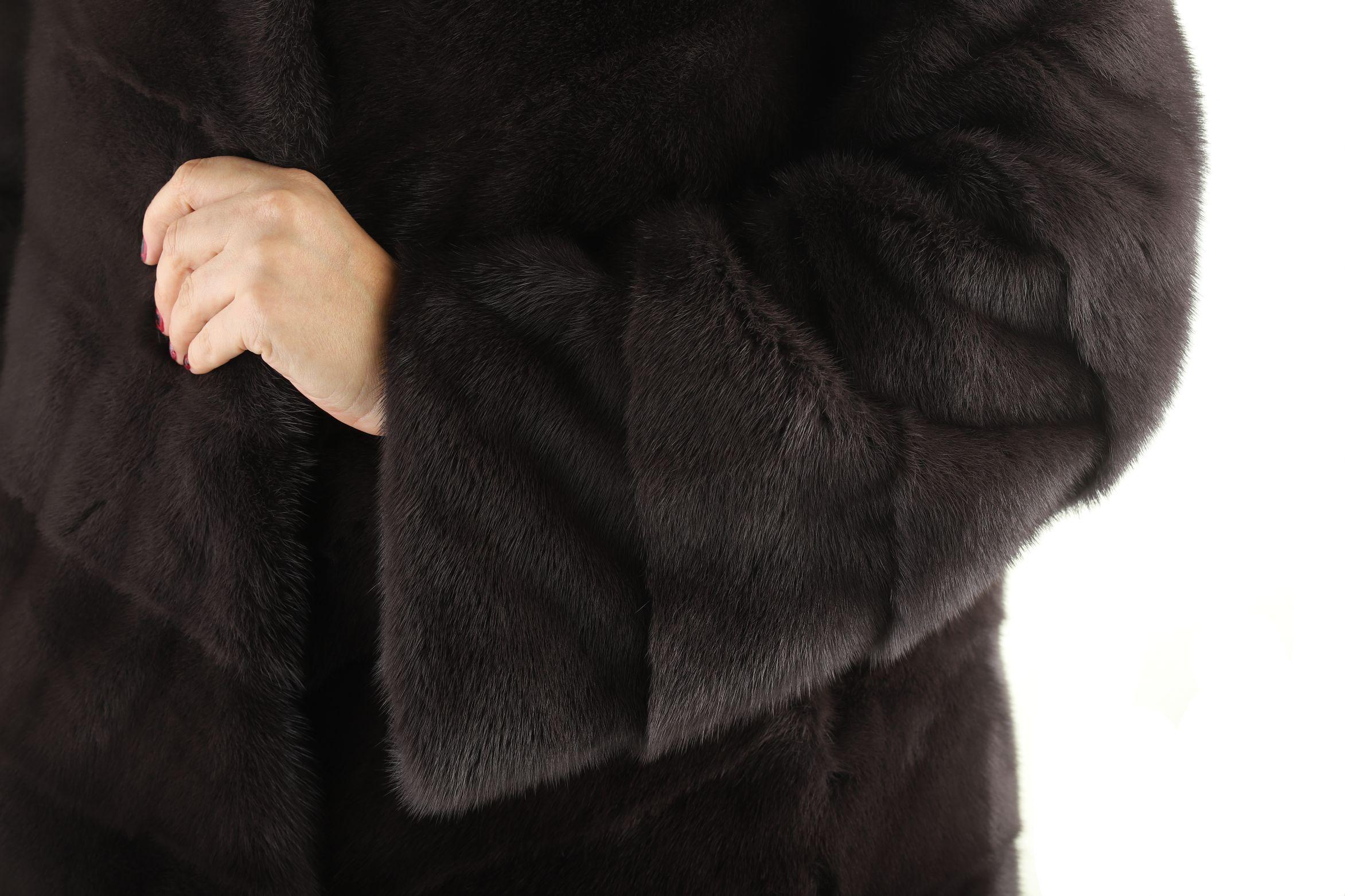 Шуба женская норковая 55 фото №1