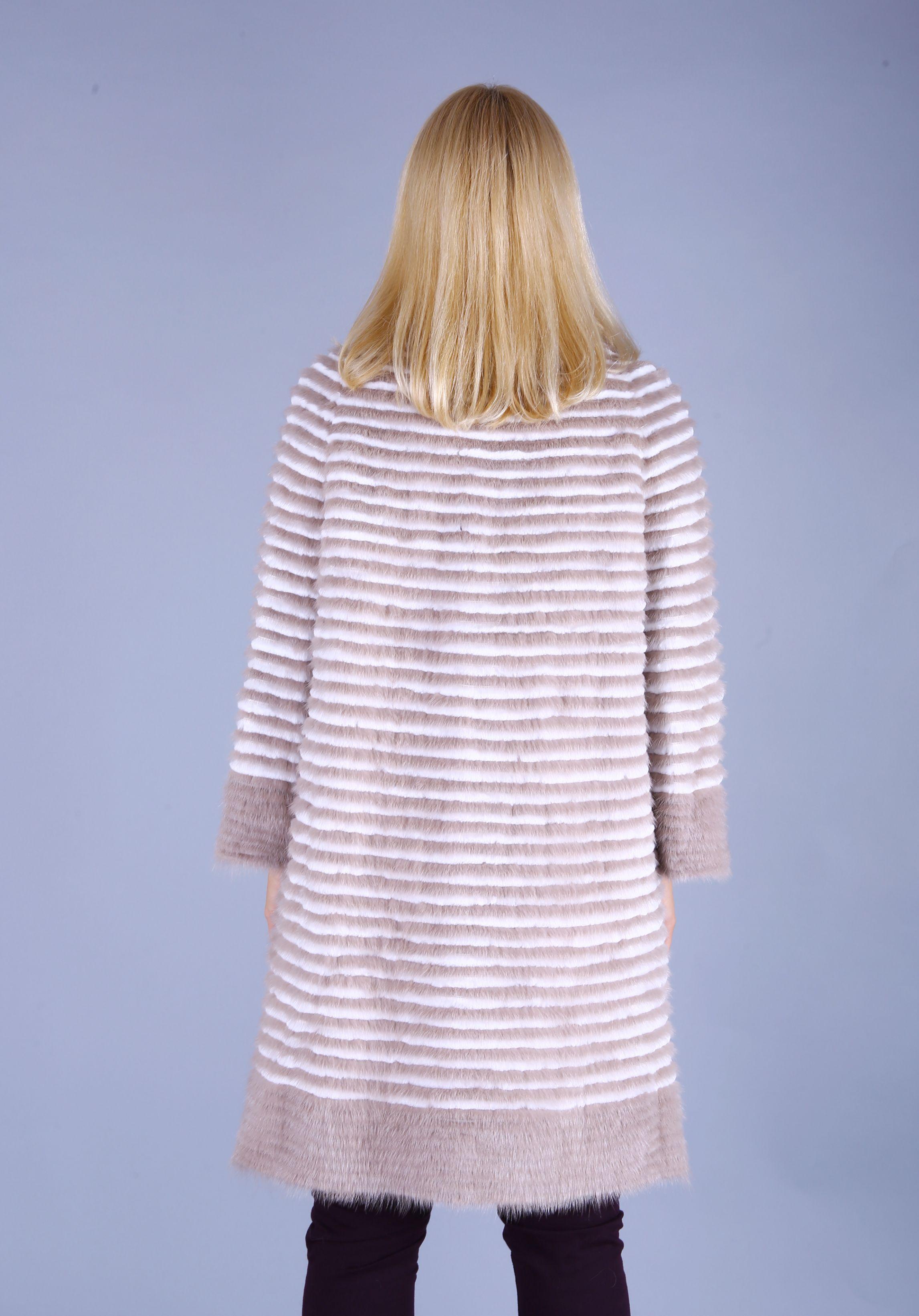 Кофта женская из меха норки w21990 фото №1