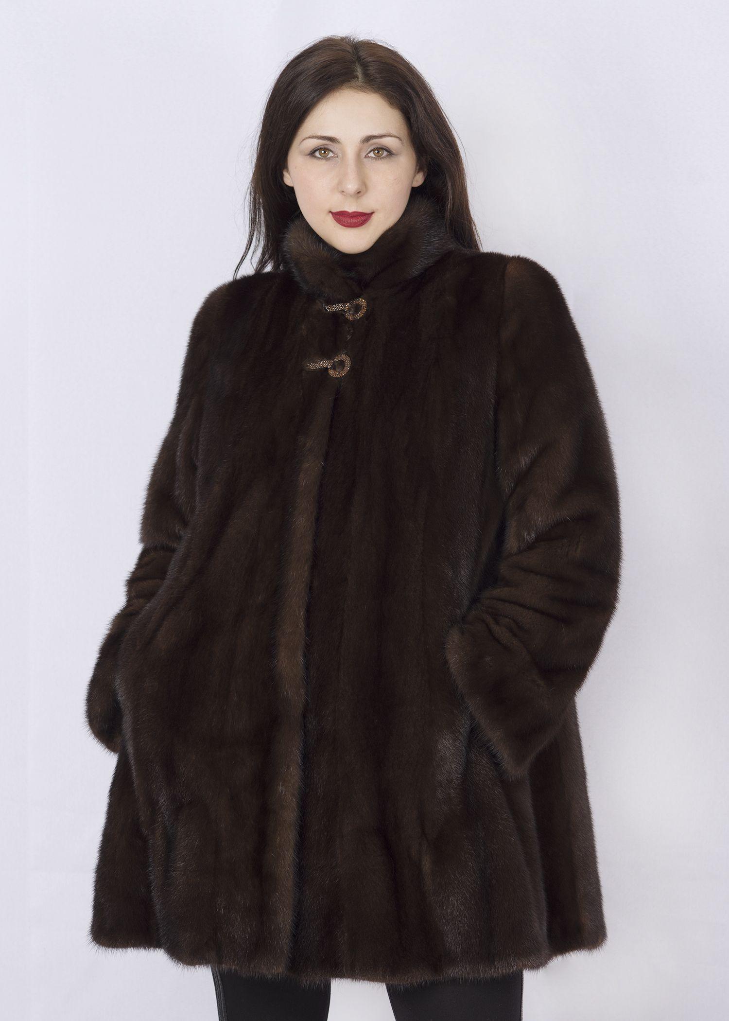 Шуба женская норковая 2503DR фото №1