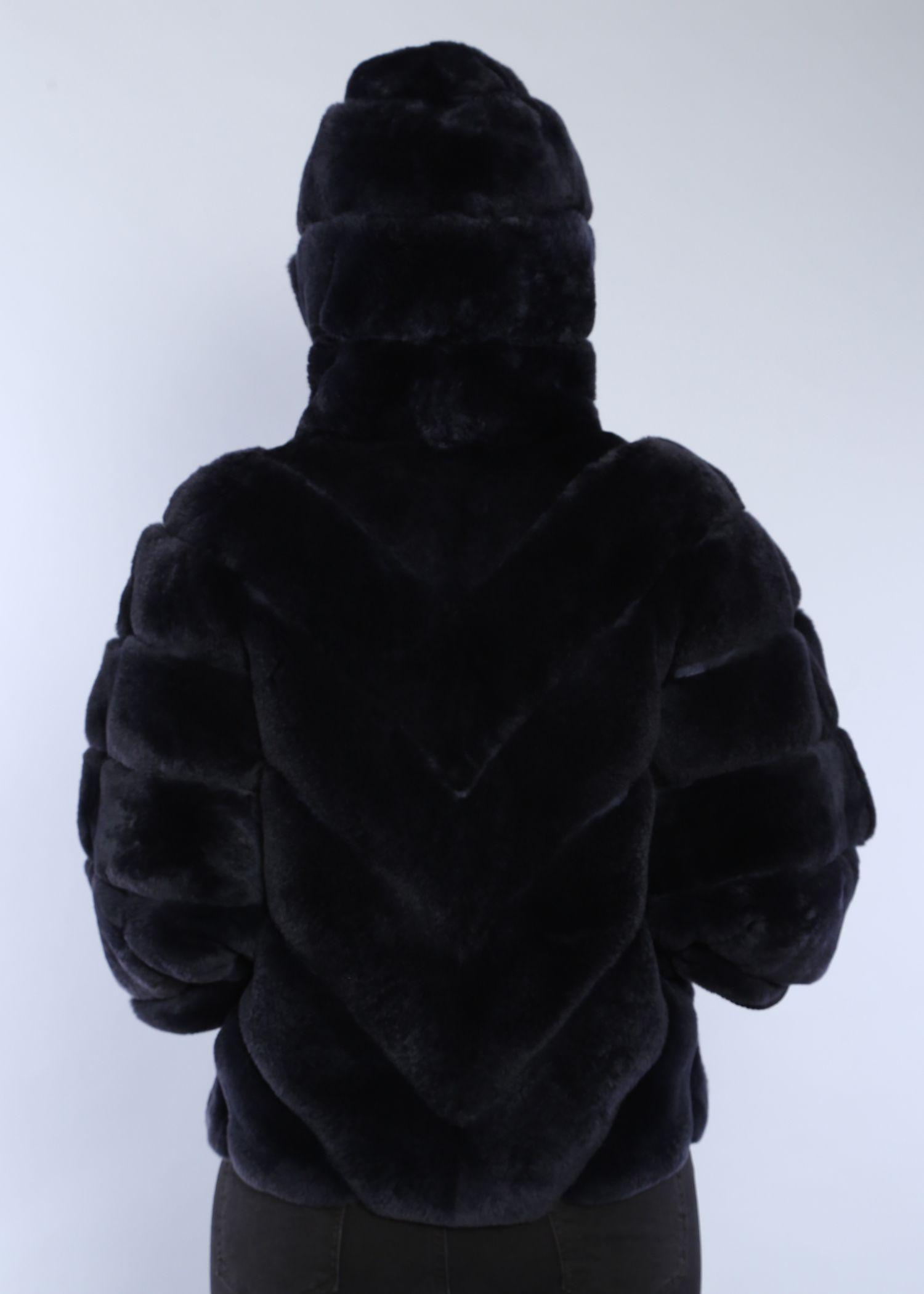 Шуба женская из бобрика(rex) 1523-1М фото №1