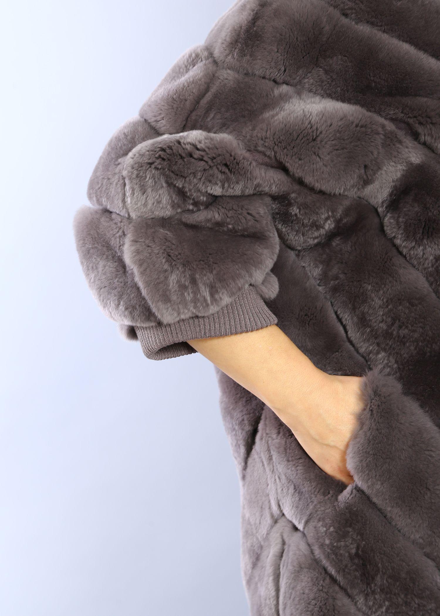 Шуба женская из бобрика(rex) 1523-1С фото №1