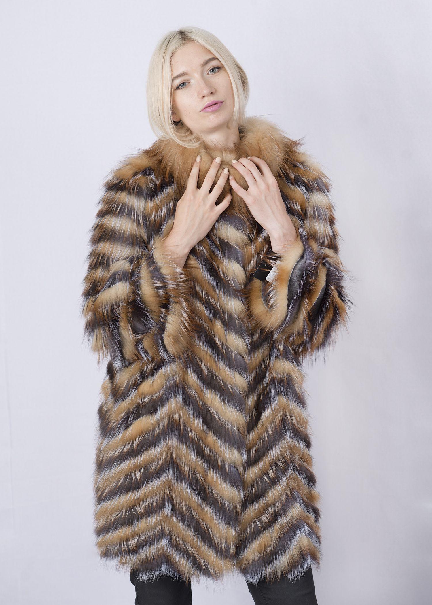Кофта женская из меха лисы W-02YLV фото №1
