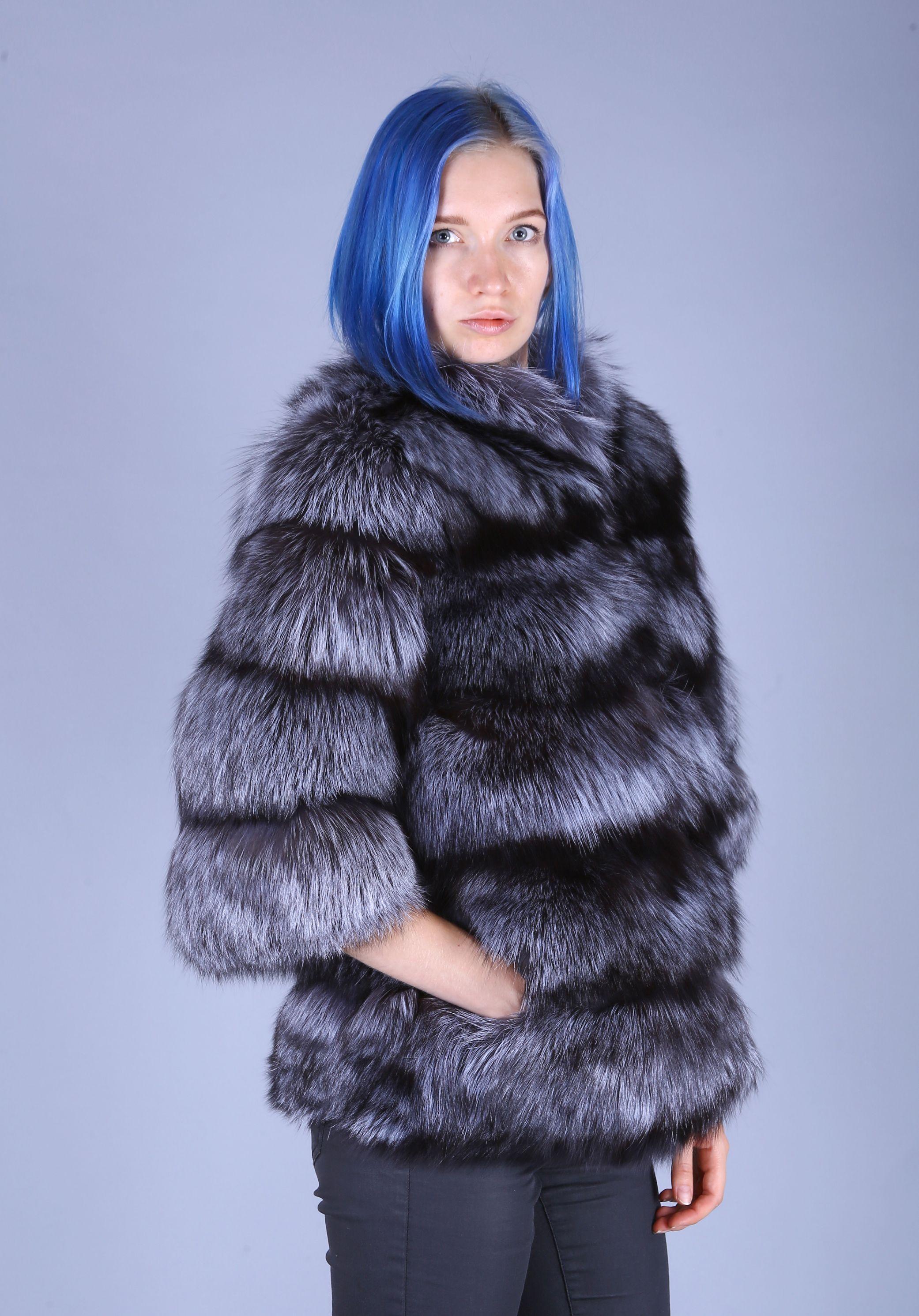 Шуба женская из чернобурки-60 фото №1