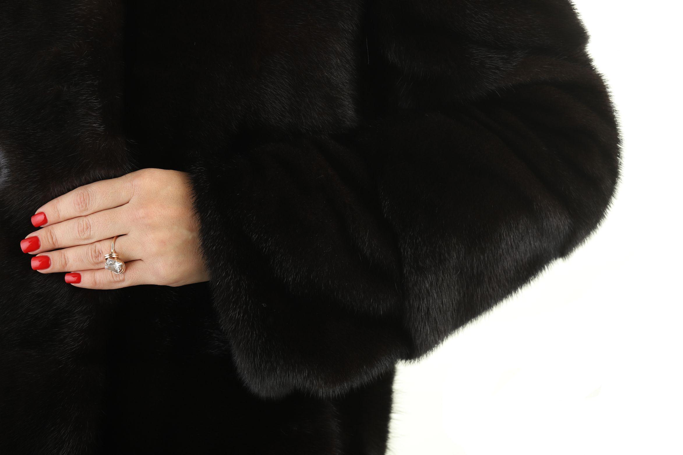 Шуба женская норковая 12215 фото №1