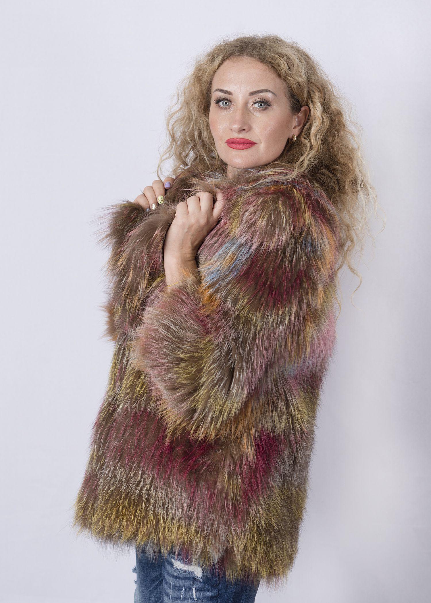 Кофта женская из меха лисы FOX-001 фото №1