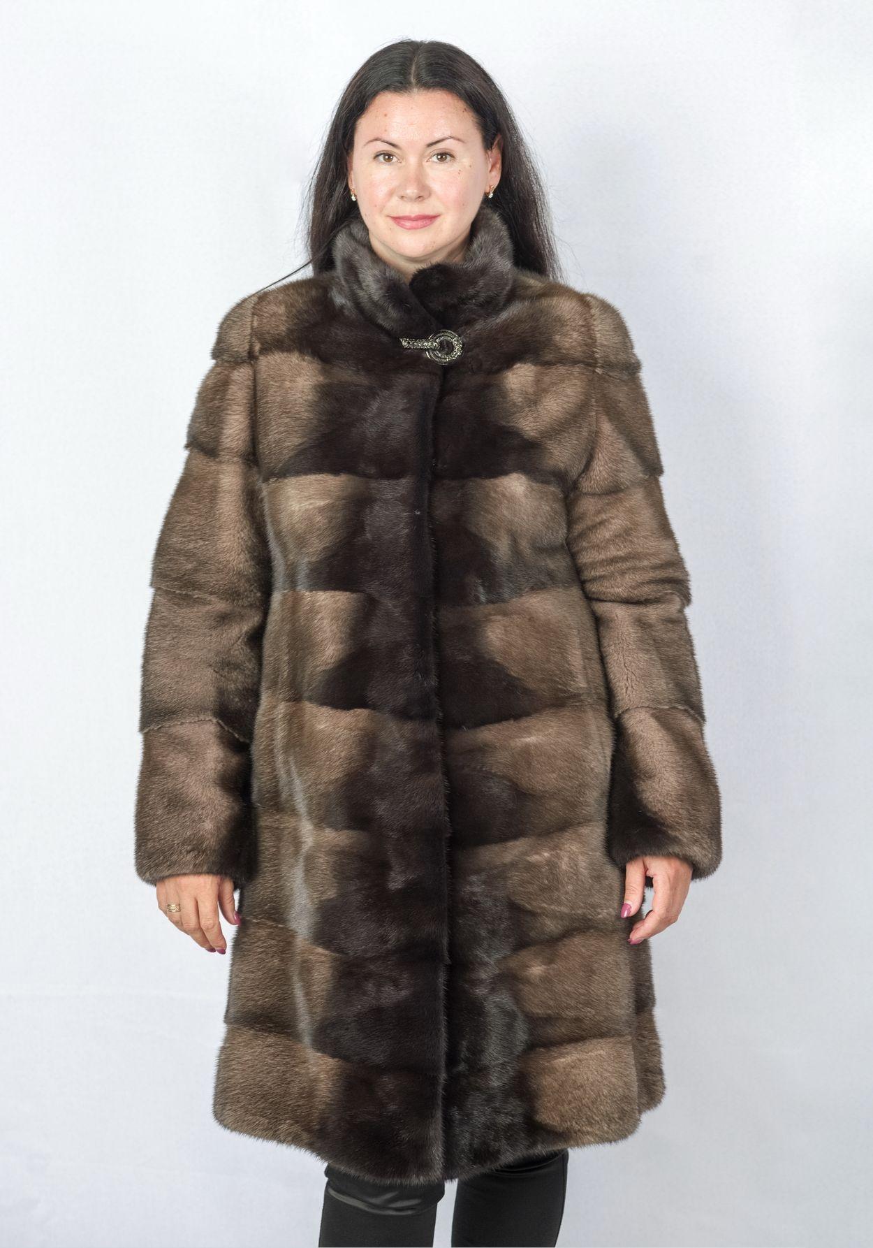Шуба женская норковая 8006-1-105 фото №1