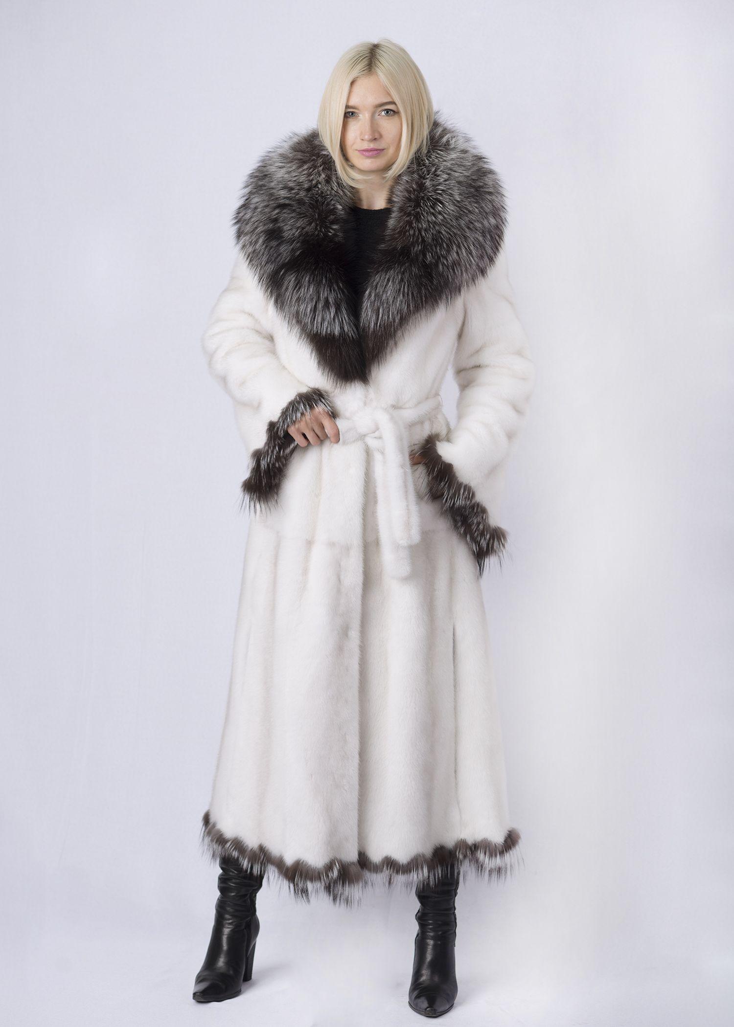 Шуба женская норковая 70570-W фото №1