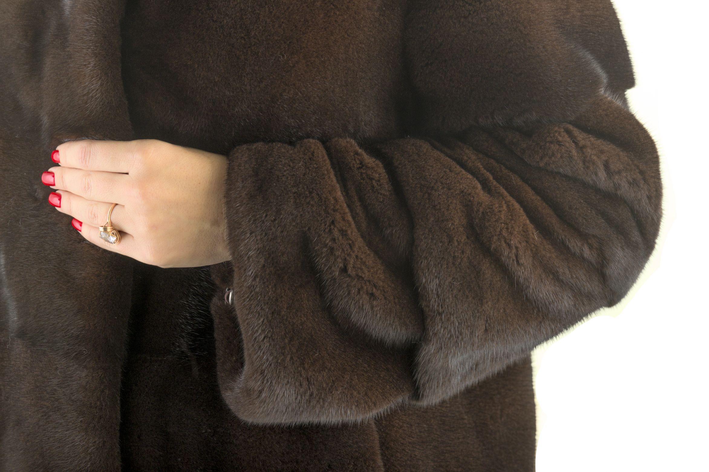 Шуба женская норковая 12209 фото №1