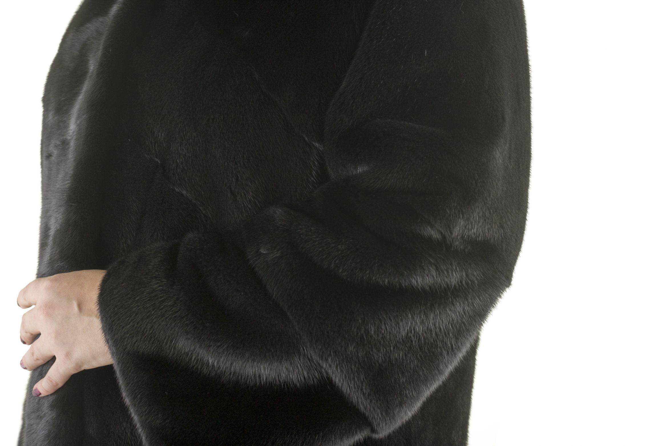 Шуба женская норковая 12227 фото №1