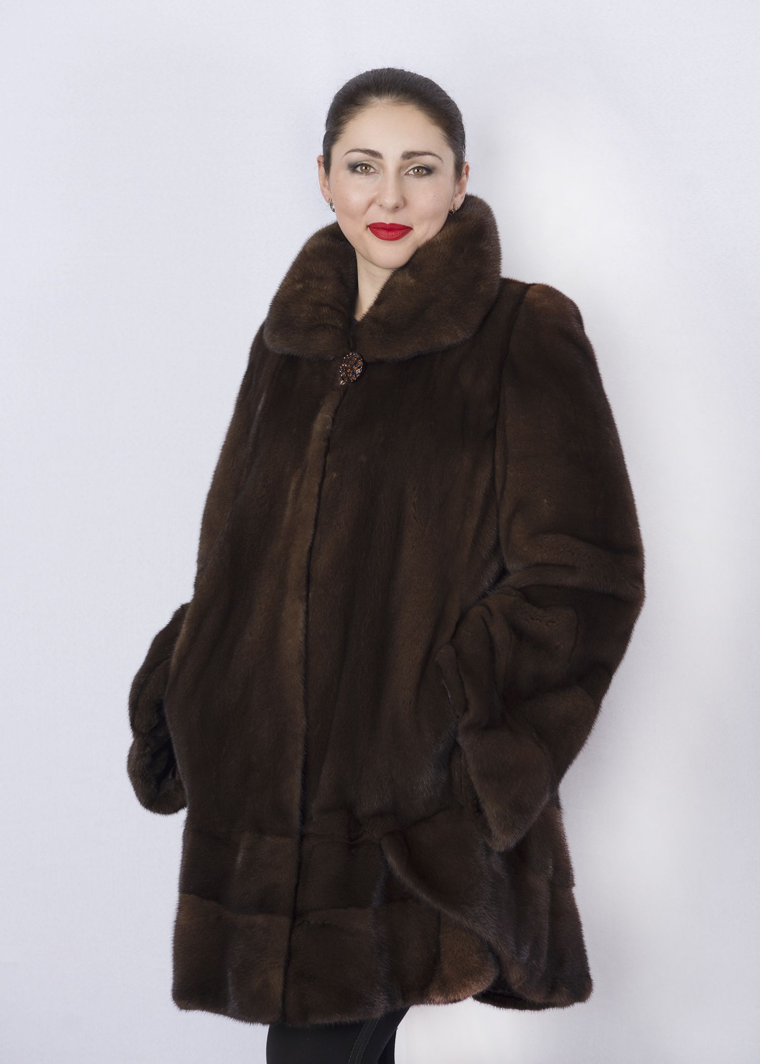 Шуба женская норковая 2604C фото №1