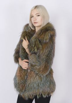 Кофта женская из меха лисы FOX-001-G