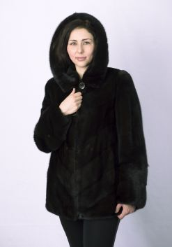 Шуба женская норковая 0246